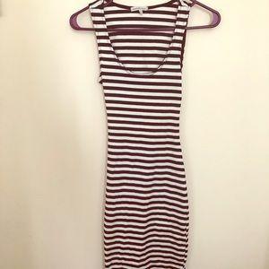 NWT bodycon tight striped dress with fun back!